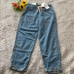 Brand new Rolled Hem Chino in Washed Denim